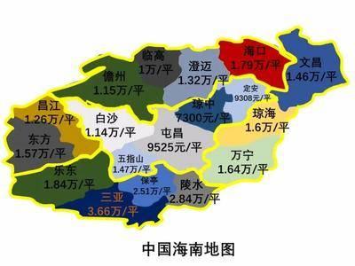 海南各市县最新房价,南部最高,中部最低……